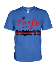 Farm  LIFE AND Firefighter WIFE V-Neck T-Shirt thumbnail