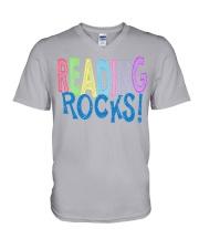 READING-ROCKS V-Neck T-Shirt thumbnail