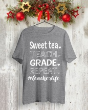 SWEET TEA TEACH GRADE REPEAT Classic T-Shirt lifestyle-holiday-crewneck-front-2