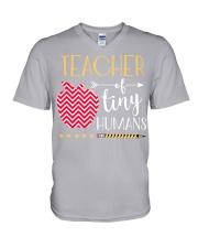 TEACHER OF TINY HUMANS V-Neck T-Shirt thumbnail