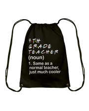 4TH GRADE TEACHER - NOUN TEACHER T-SHIRT  Drawstring Bag thumbnail