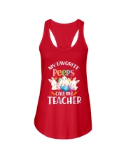 MY FAVORITE PEEPS CALL ME TEACHER Ladies Flowy Tank thumbnail
