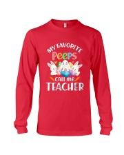 MY FAVORITE PEEPS CALL ME TEACHER Long Sleeve Tee thumbnail