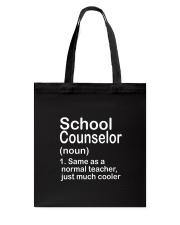 School Counselor - NOUN TEACHER T-SHIRT  Tote Bag thumbnail