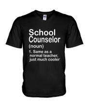 School Counselor - NOUN TEACHER T-SHIRT  V-Neck T-Shirt thumbnail