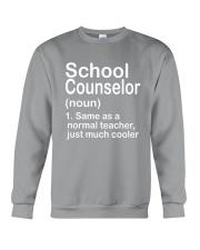 School Counselor - NOUN TEACHER T-SHIRT  Crewneck Sweatshirt thumbnail