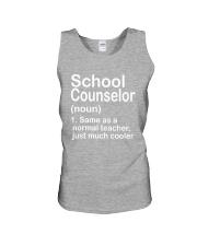School Counselor - NOUN TEACHER T-SHIRT  Unisex Tank thumbnail