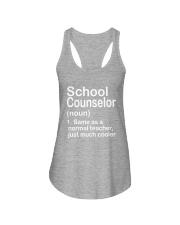School Counselor - NOUN TEACHER T-SHIRT  Ladies Flowy Tank thumbnail