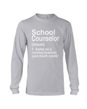 School Counselor - NOUN TEACHER T-SHIRT  Long Sleeve Tee thumbnail