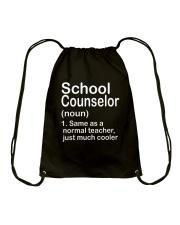 School Counselor - NOUN TEACHER T-SHIRT  Drawstring Bag thumbnail