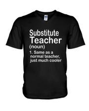 Substitute teacher - NOUN TEACHER T-SHIRT  V-Neck T-Shirt thumbnail