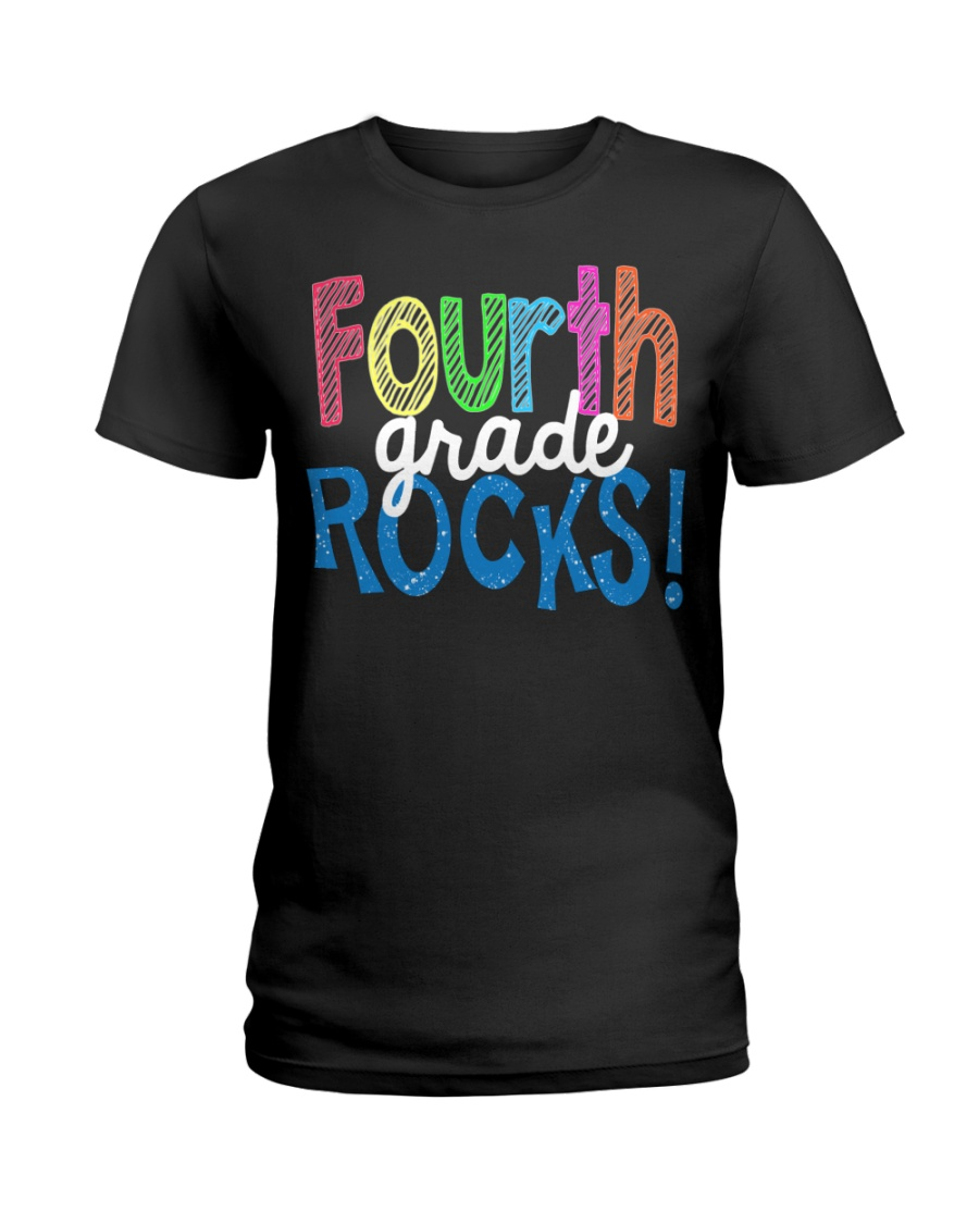 FOURTH-GRADE-ROCKS Ladies T-Shirt