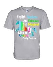 English teachers V-Neck T-Shirt thumbnail
