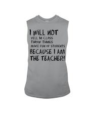 BECAUSE I AM THE TEACHER MUG Sleeveless Tee thumbnail