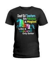 Deaf Ed Teachers Ladies T-Shirt front