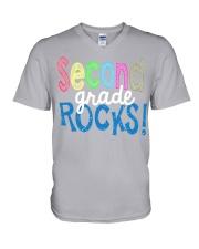 SECOND-GRADE-ROCKS V-Neck T-Shirt thumbnail