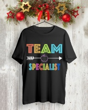 TEAM SPECIALIST Classic T-Shirt lifestyle-holiday-crewneck-front-2