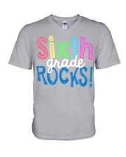 SIXTH-GRADE-ROCKS V-Neck T-Shirt thumbnail