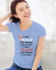 I WILL TEACH Ladies T-Shirt lifestyle-holiday-womenscrewneck-front-1