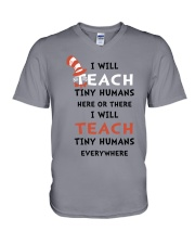I WILL TEACH V-Neck T-Shirt thumbnail