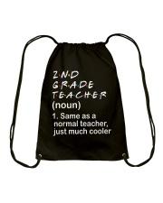 2ND GRADE TEACHER - NOUN TEACHER T-SHIRT  Drawstring Bag thumbnail