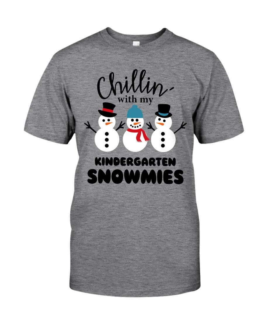 Chillin with my kindergarten snowmies Classic T-Shirt
