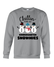 Chillin with my kindergarten snowmies Crewneck Sweatshirt thumbnail