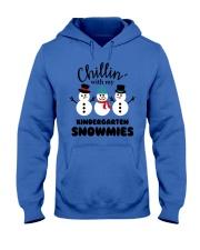 Chillin with my kindergarten snowmies Hooded Sweatshirt thumbnail