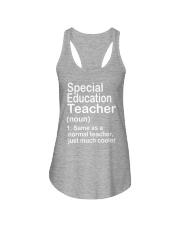 Special Education teacher - NOUN TEACHER T-SHIRT  Ladies Flowy Tank thumbnail
