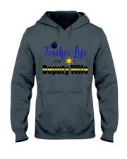 TEACHER LIFE AND DEPUTY WIFE Hooded Sweatshirt thumbnail
