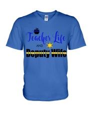 TEACHER LIFE AND DEPUTY WIFE V-Neck T-Shirt thumbnail