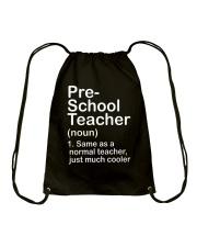nganld pre-school - NOUN TEACHER T-SHIRT  Drawstring Bag thumbnail