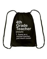 nganld 4th grade - NOUN TEACHER T-SHIRT  Drawstring Bag thumbnail