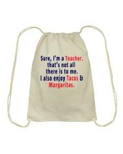 SURE I AM A TEACHER Drawstring Bag thumbnail