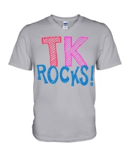 TK ROCKS V-Neck T-Shirt thumbnail
