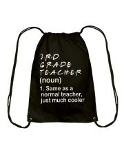 3RD GRADE TEACHER - NOUN TEACHER T-SHIRT  Drawstring Bag thumbnail