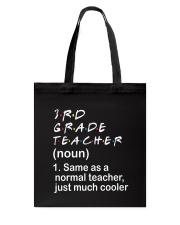 3RD GRADE TEACHER - NOUN TEACHER T-SHIRT  Tote Bag thumbnail