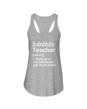 Substitute teacher - NOUN TEACHER T-SHIRT  Ladies Flowy Tank thumbnail