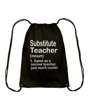 Substitute teacher - NOUN TEACHER T-SHIRT  Drawstring Bag thumbnail