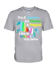 PRE-K TEACHERS V-Neck T-Shirt thumbnail