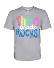 THIRD-GRADE-ROCKS V-Neck T-Shirt thumbnail
