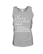 1ST GRADE TEACHER - NOUN TEACHER T-SHIRT  Unisex Tank thumbnail