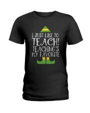 I JUST LIKE TO TEACH Ladies T-Shirt thumbnail