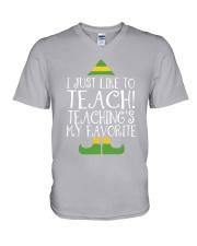 I JUST LIKE TO TEACH V-Neck T-Shirt thumbnail