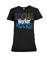 SOCIAL-WORKER-ROCKS Premium Fit Ladies Tee thumbnail