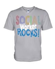 SOCIAL-WORKER-ROCKS V-Neck T-Shirt thumbnail
