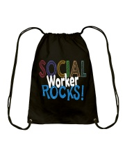 SOCIAL-WORKER-ROCKS Drawstring Bag thumbnail
