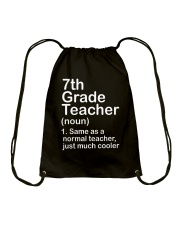 nganld 7th grade - NOUN TEACHER T-SHIRT  Drawstring Bag thumbnail