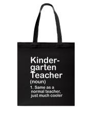 nganld kindergarten  - NOUN TEACHER T-SHIRT  Tote Bag thumbnail