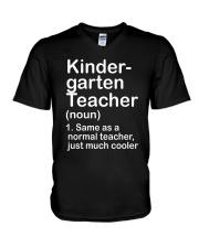 nganld kindergarten  - NOUN TEACHER T-SHIRT  V-Neck T-Shirt thumbnail